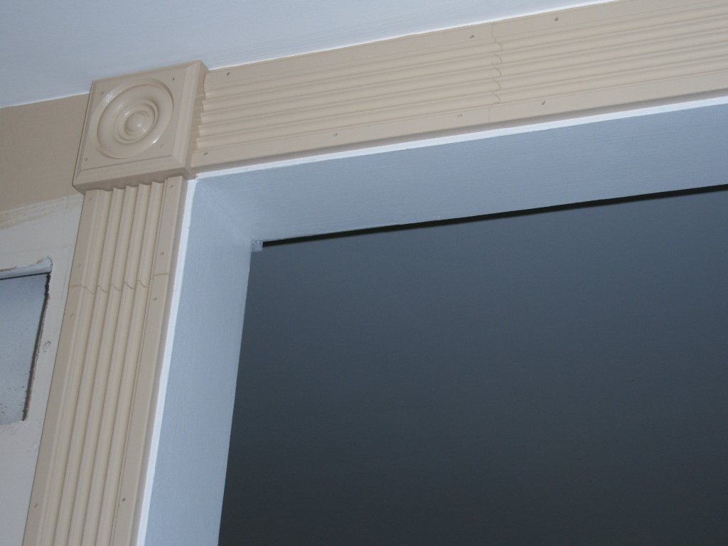 Fluted Trim Boards ~ Dressing up an archway with fluted casing and rosettes