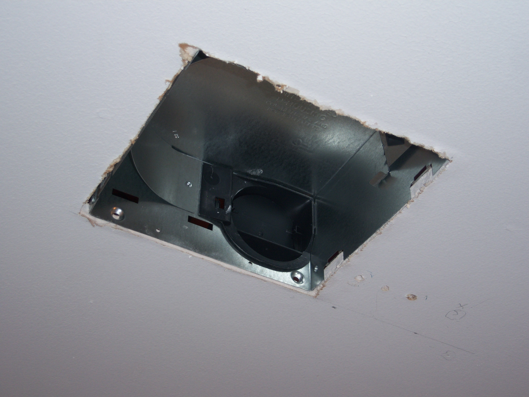bathroom exhaust fan housing installation 2 - Installing A Bathroom Fan