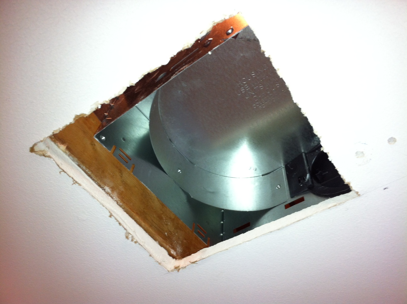 Bathroom Ventilation Fan Housing Installation 1