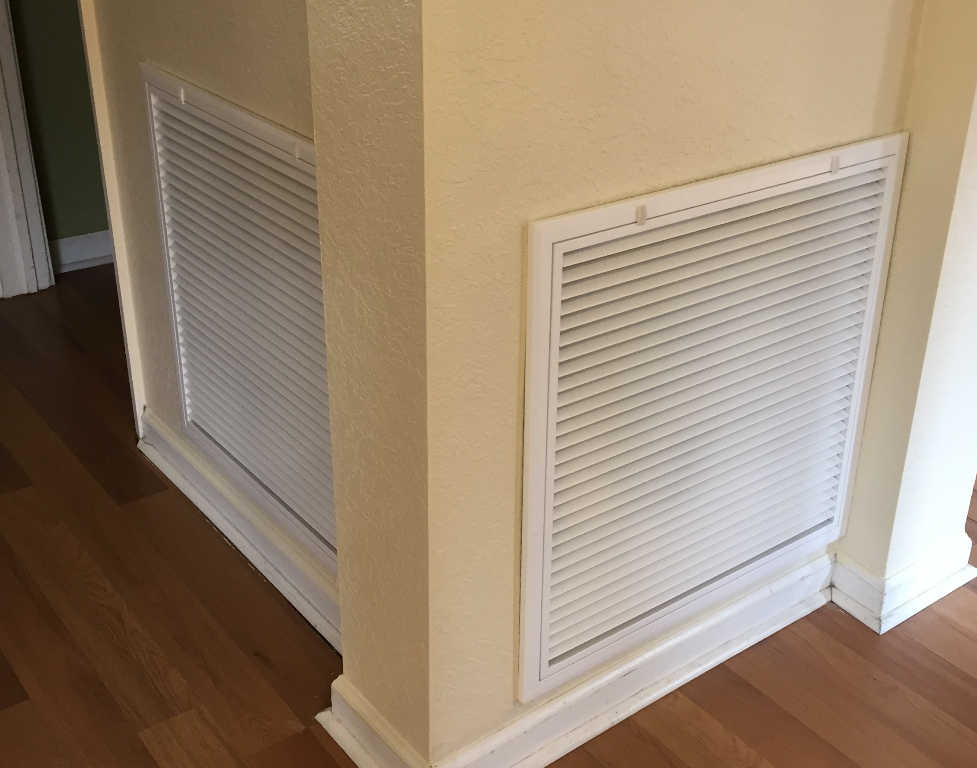 replacing a central air conditioner return vent cover. Black Bedroom Furniture Sets. Home Design Ideas