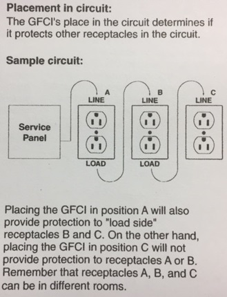 gfci gfi outlet daisy chaining