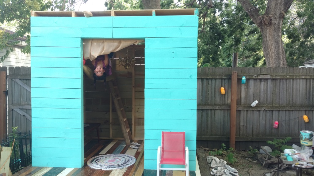 DIY Outdoor Playhouse Part 3: Lighting, Decor & Monkey Bars